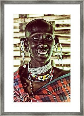 African Maasai Teacher Framed Print