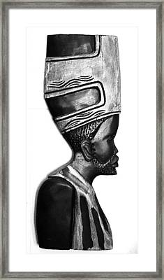 African Man Headress Framed Print by Sheryl Chapman Photography