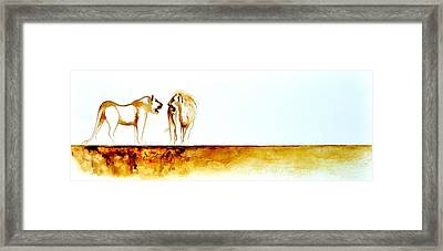African Marriage - Original Artwork Framed Print