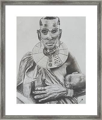 African Mother Framed Print