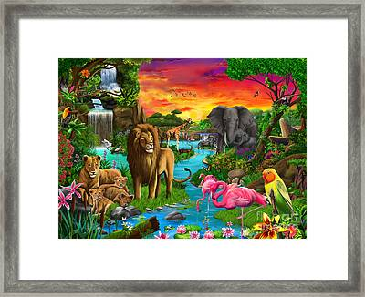 African Paradise Framed Print by Gerald Newton