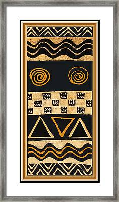 African Primordial Spirits - 2 Framed Print by Vagabond Folk Art - Virginia Vivier