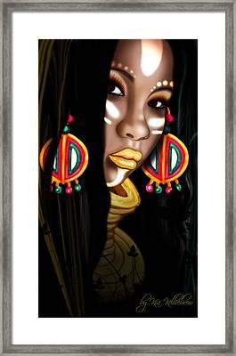 African Princess Framed Print