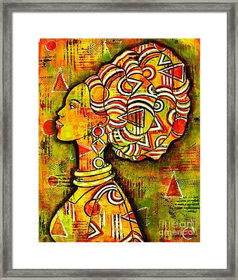 African Queen Framed Print