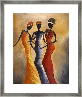 African Queens Framed Print by Evon Du Toit