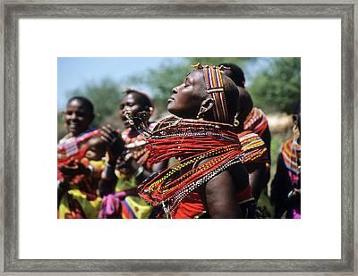 African Rhythm Framed Print