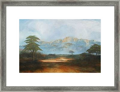 African Riverbed Framed Print by William Stanton