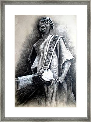 African Rythm Framed Print by Bankole Abe