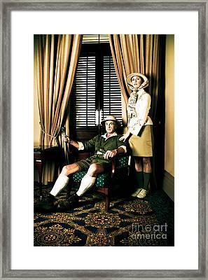 African Safari Couple Framed Print