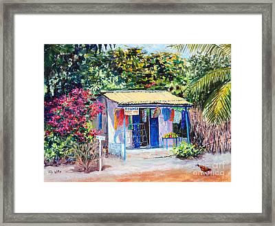 African Shop Framed Print