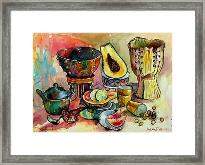 African Still Life Framed Print by Yelena Tylkina