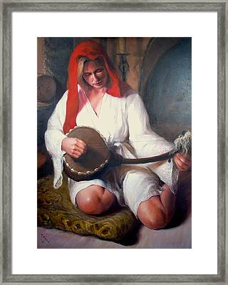 African Strings  1 Framed Print by Donelli  DiMaria