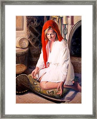 Framed Print featuring the painting African Strings 4 by Donelli  DiMaria