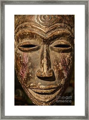 African Tribal Mask. Framed Print by John Greim