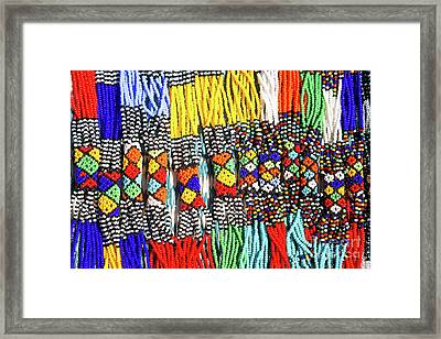 African Tribal Necklaces Framed Print by Jane Rix