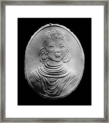 African Turkana Woman Framed Print by Suhas Tavkar