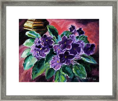 African Violets Framed Print by John Lautermilch