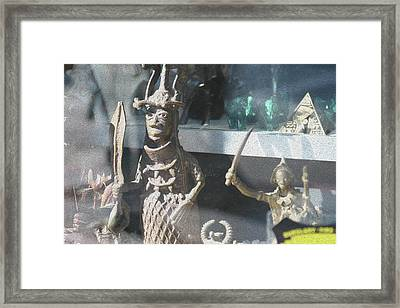 African Warrior Figurine Framed Print