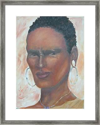 African Warrior Framed Print by Judie Giglio