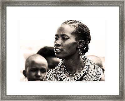 African Woman Framed Print