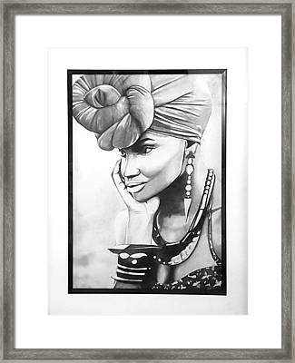 African Woman Framed Print by Nicole Khoury