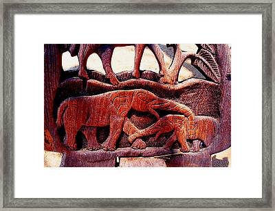 African Wood Carving 05 Framed Print