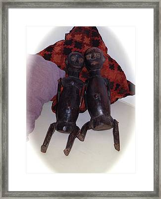 African Wooden Dolls Framed Print