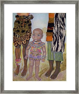 Afrik Girl Framed Print