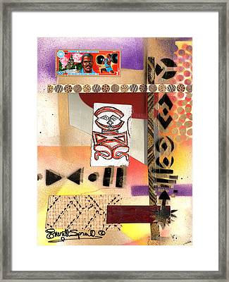 Afro Collage - C Framed Print by Everett Spruill