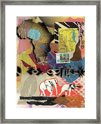 Afro Collage - M Framed Print