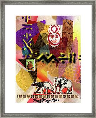 Afro Collage - O Framed Print