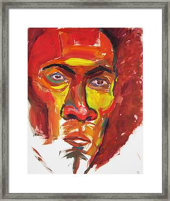 Framed Print featuring the painting Afro by Shungaboy X