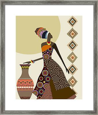 Afrocentric Chic IIi Framed Print
