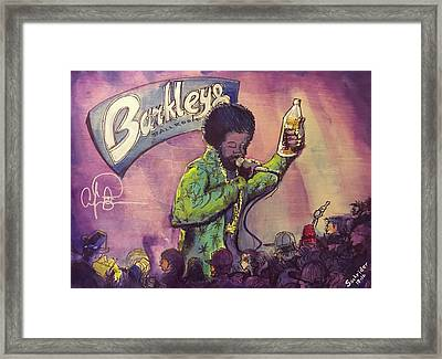 Framed Print featuring the painting Afroman At Barkleys by David Sockrider