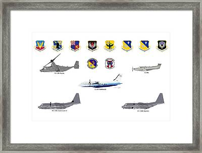 Afsoc Cannon Afb Framed Print
