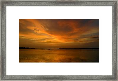 After A Good Day Framed Print