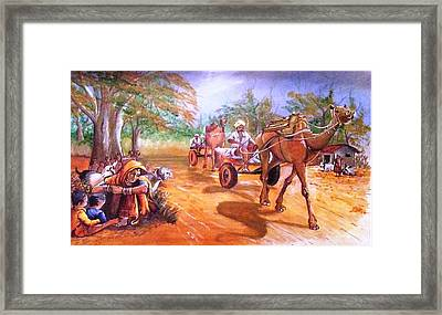 After A Hard Day's Work Framed Print by Jyoti Chordia