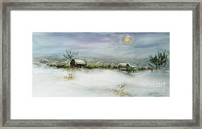 After A Heavy Fall Of Snow Framed Print