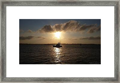 After A Long Day Of Fishing Framed Print