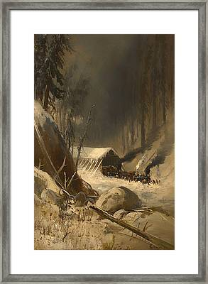After A Snowstorm In The Sierra Nevada Mountains Framed Print by Mountain Dreams