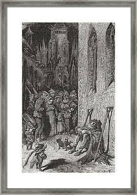 After A Work By Gustave Dore For Balzac Framed Print by Vintage Design Pics