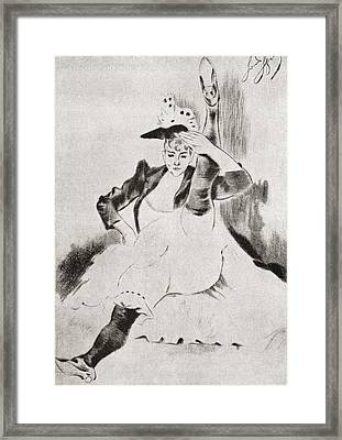 After A Work By Louis Legrand Entitled Framed Print by Vintage Design Pics