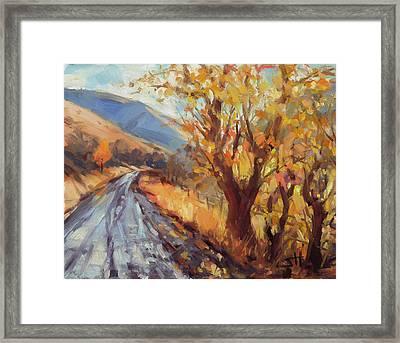 After An Autumn Rain Framed Print