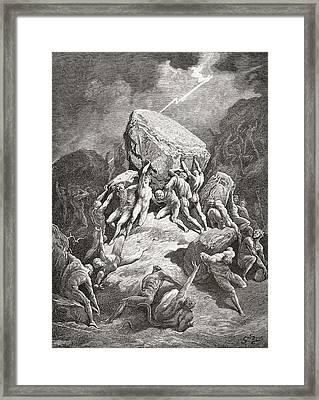 After An Original Sketch For The Bible Framed Print
