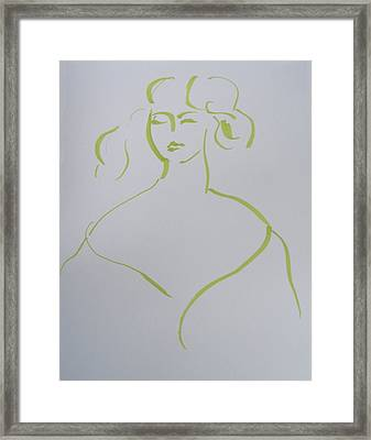 Angelo Asti Portrait Of A Young Woman Revisited Framed Print