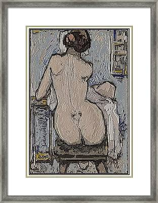 After Bathing Ab2 Framed Print