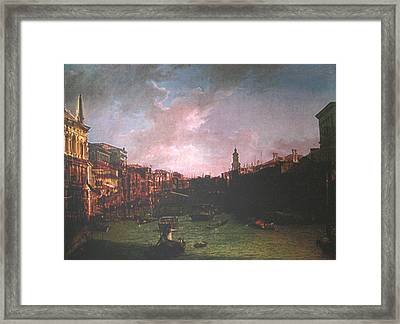 After Canal Grande Looking Northeast Framed Print by Hyper - Canaletto