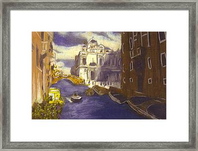 After Church Of Santi Giovanni E Paolo With The School Of St. Mark Framed Print by Hyper - Canaletto