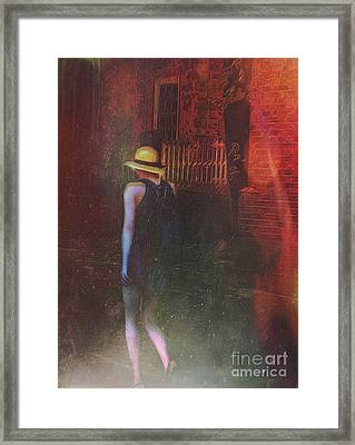 Framed Print featuring the digital art After Dark by Alexis Rotella