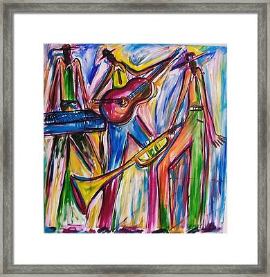 Framed Print featuring the painting After Dark  by Emery Franklin